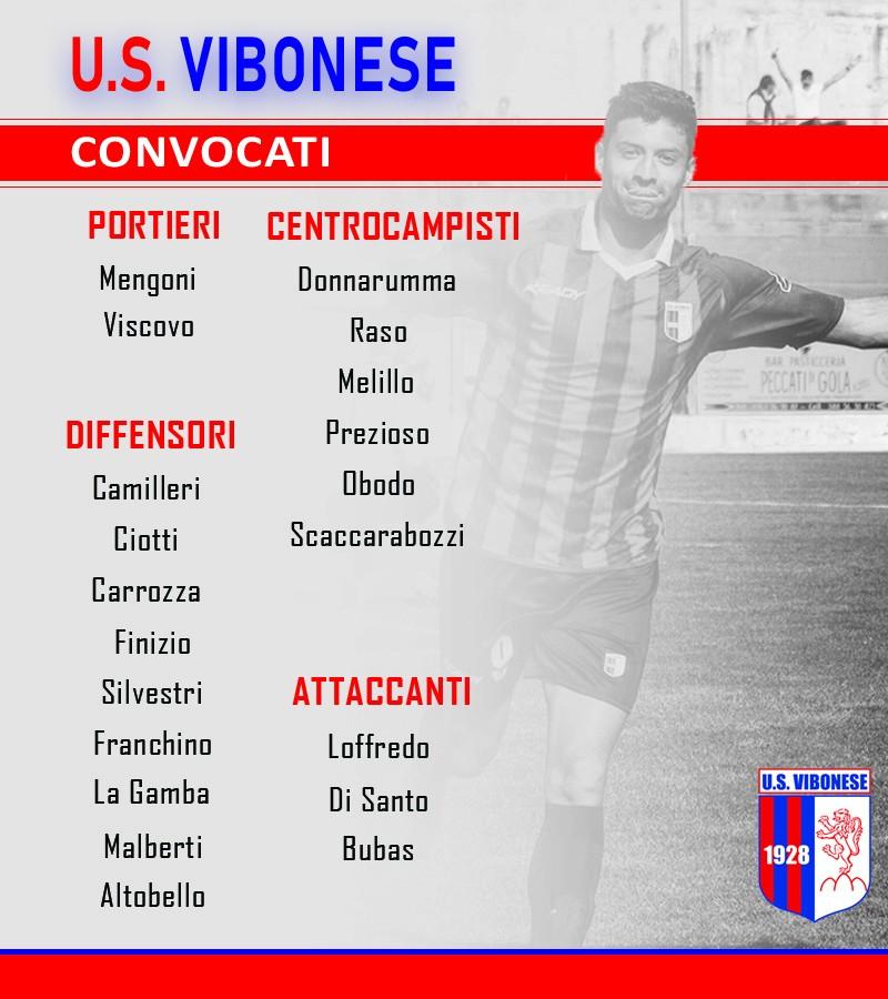 Vibonese - Siracusa: Convocati immagine 8498 US Vibonese Calcio