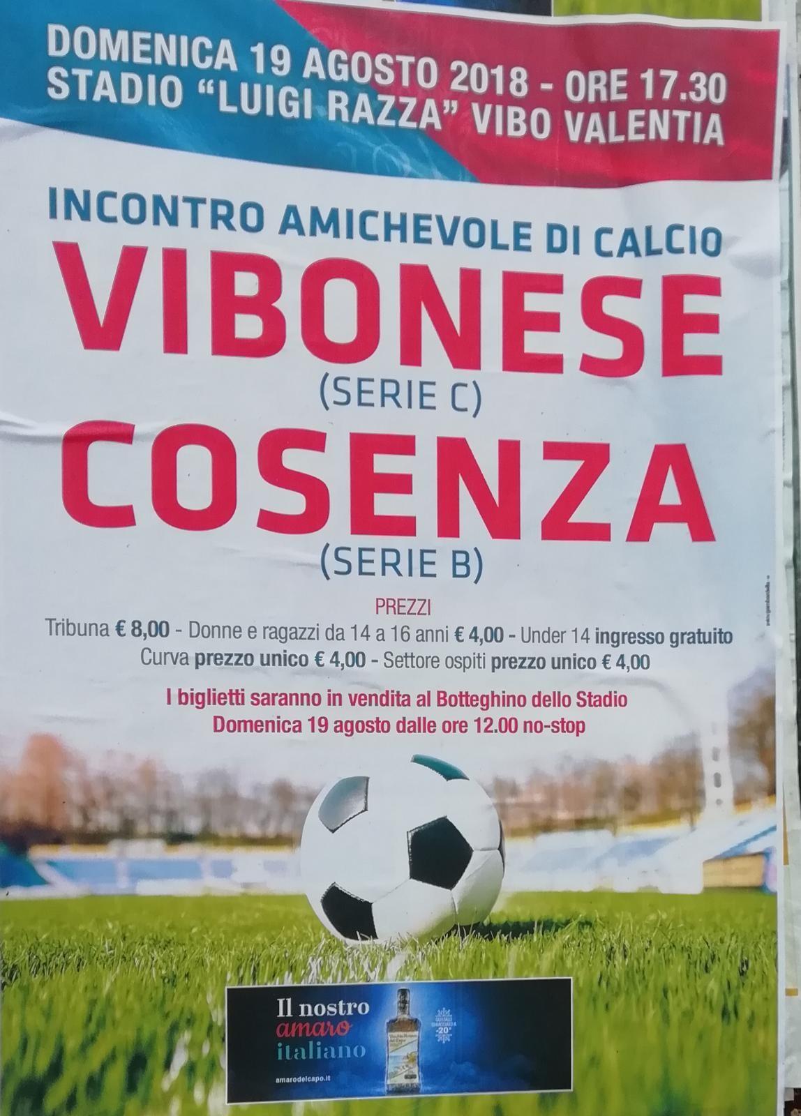 Vibonese – Cosenza domenica al Luigi Razza immagine 8568 US Vibonese Calcio