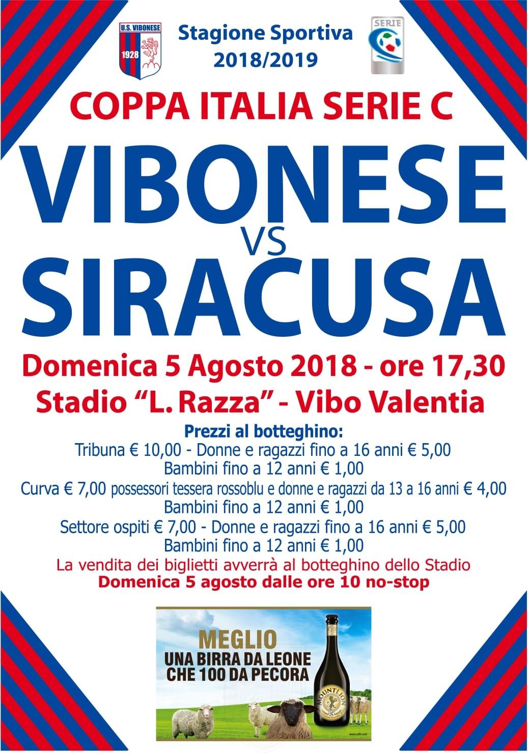 Vibonese - Siracusa: La storia dice... immagine 8484 US Vibonese Calcio