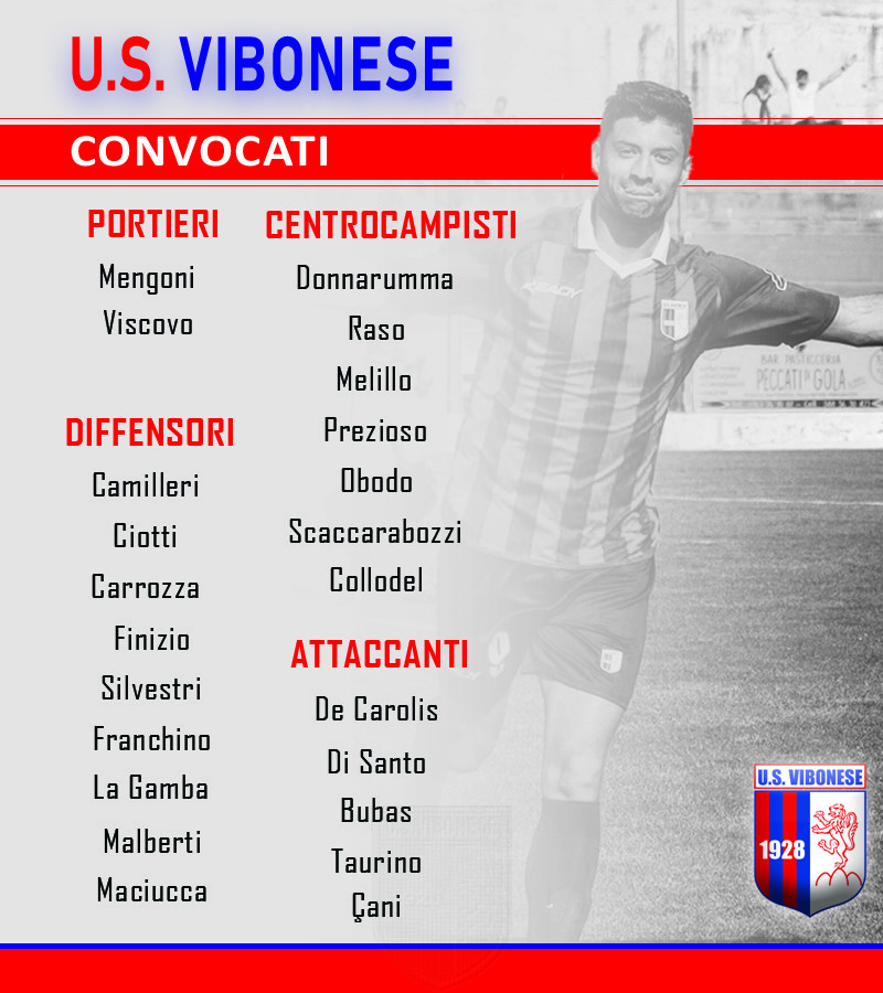 Bisceglie - Vibonese: Convocati immagine 9828 US Vibonese Calcio