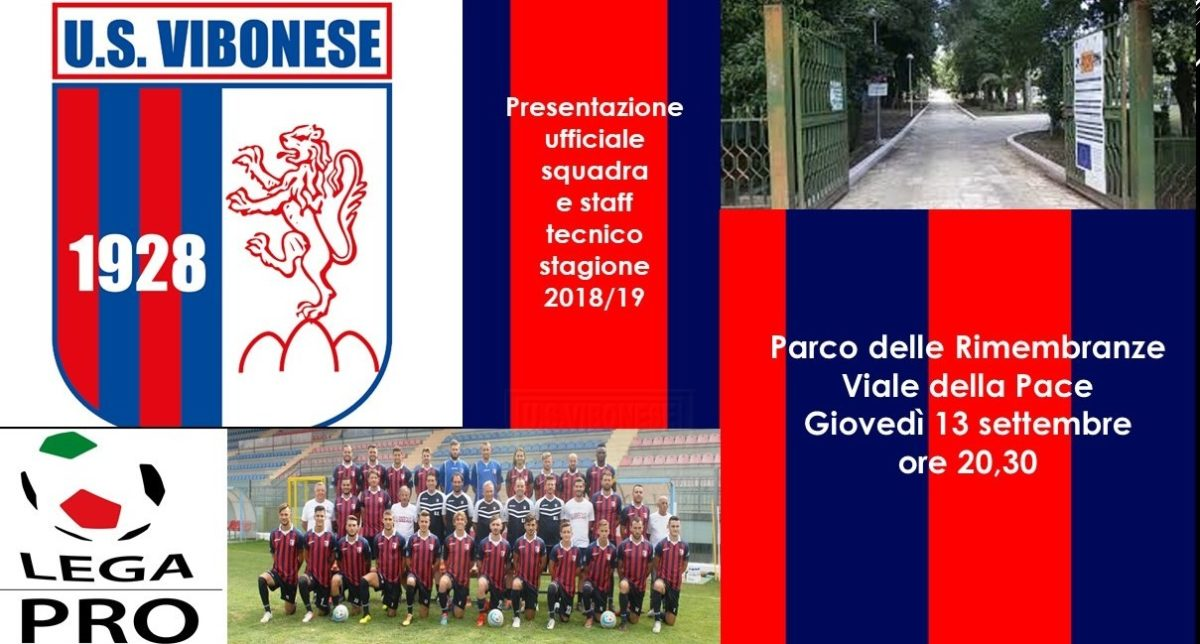 Giovedì 13 settembre la presentazione ufficiale della squadra immagine 8668 US Vibonese Calcio