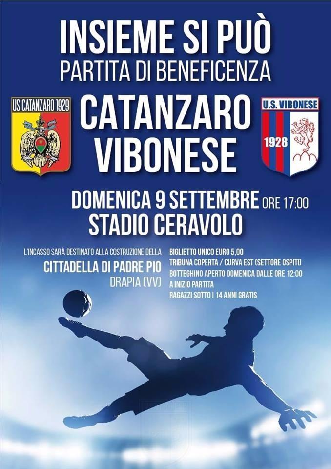 Vibonese e Catanzaro in campo per beneficenza immagine 8672 US Vibonese Calcio