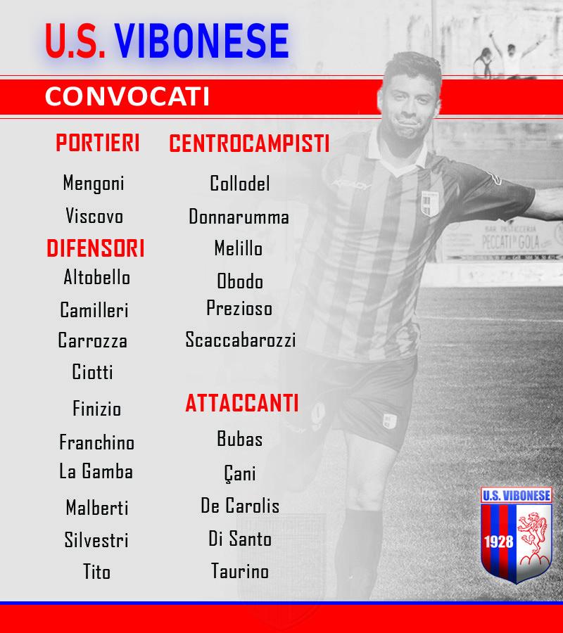 Vibonese - Matera: Convocati immagine 9963 US Vibonese Calcio