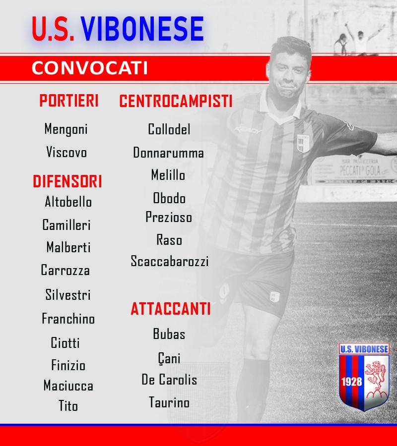 Vibonese - Trapani: Convocati immagine 9885 US Vibonese Calcio