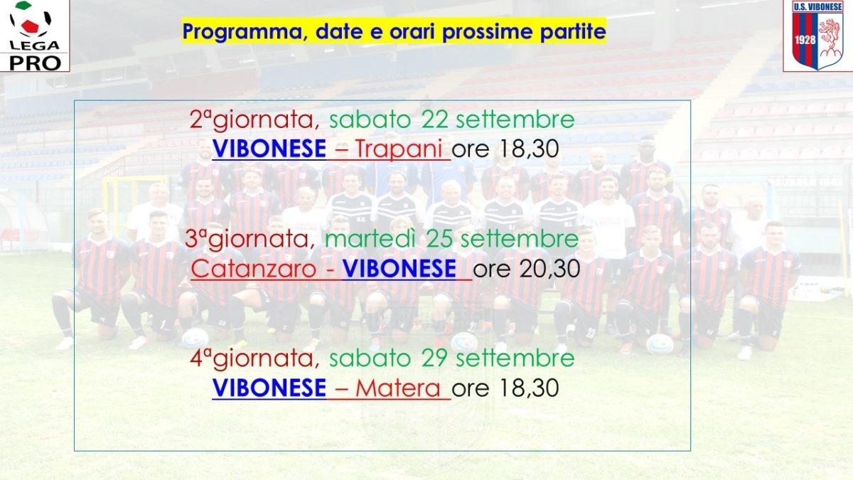 Contro il Trapani si gioca sabato alle 18,30 immagine 9847 US Vibonese Calcio