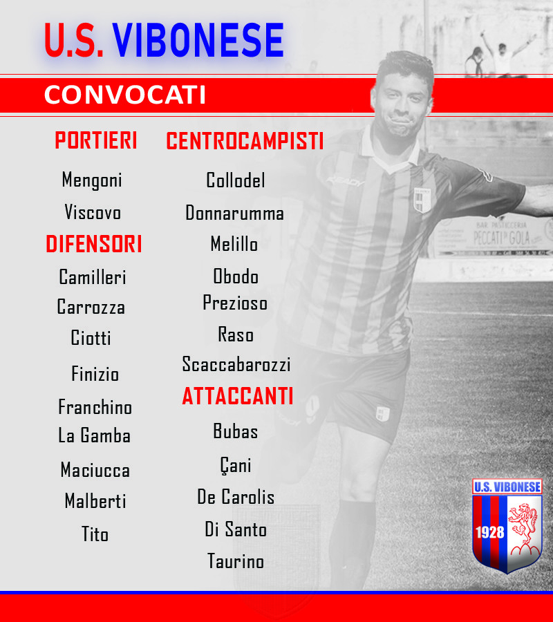 Casertana - Vibonese: Convocati immagine 10252 US Vibonese Calcio