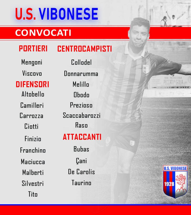Catania - Vibonese: Convocati immagine 10060 US Vibonese Calcio