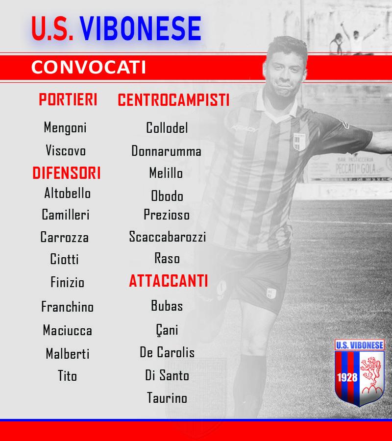 Rieti - Vibonese: Convocati immagine 10116 US Vibonese Calcio