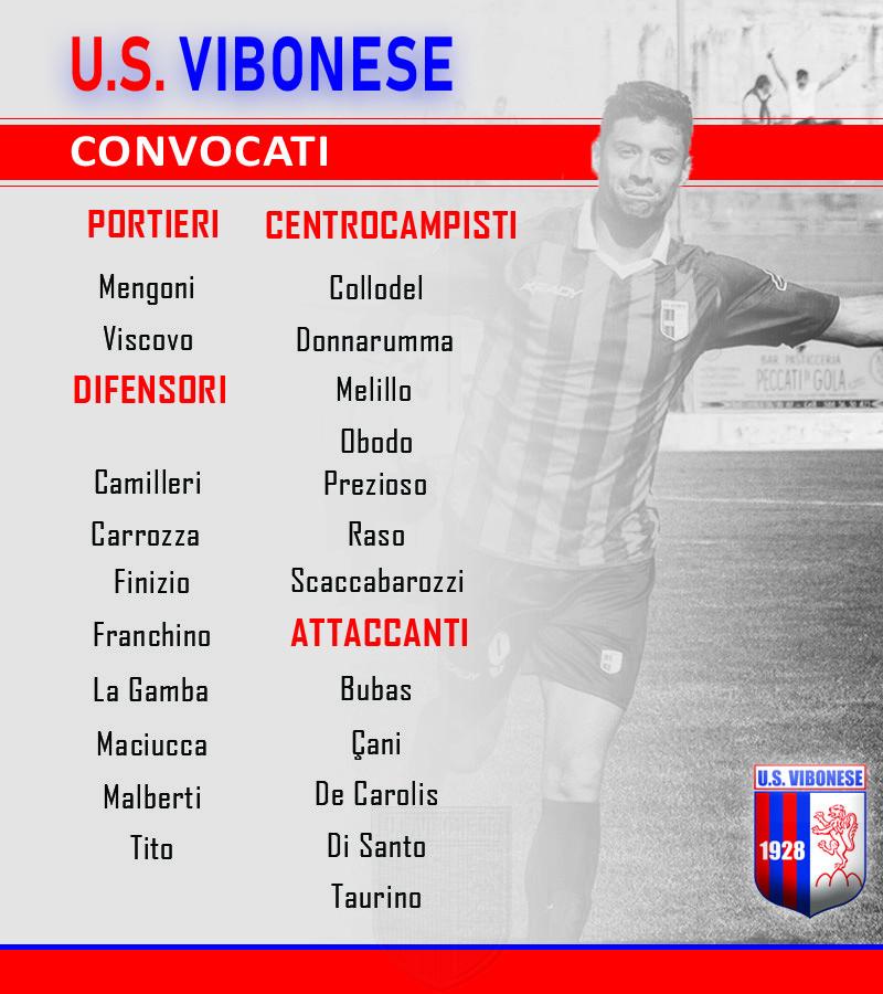 Vibonese - Sicula Leonzio: Convocati immagine 10172 US Vibonese Calcio