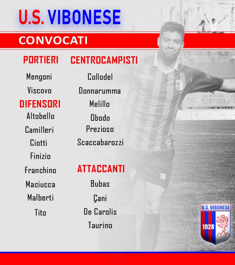 Rende - Vibonese: Convocati immagine 10422 US Vibonese Calcio