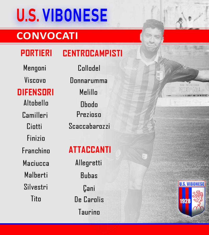 Vibonese - V. Francavilla: Convocati immagine 10305 US Vibonese Calcio