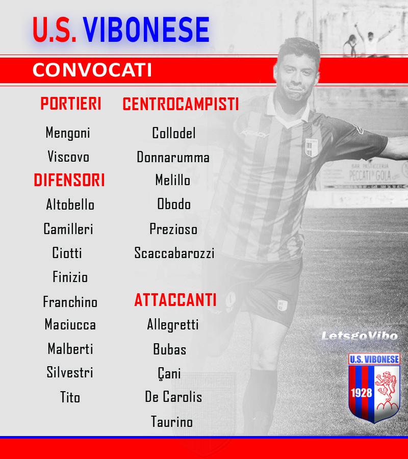 Vibonese - Viterbese: Convocati immagine 10465 US Vibonese Calcio