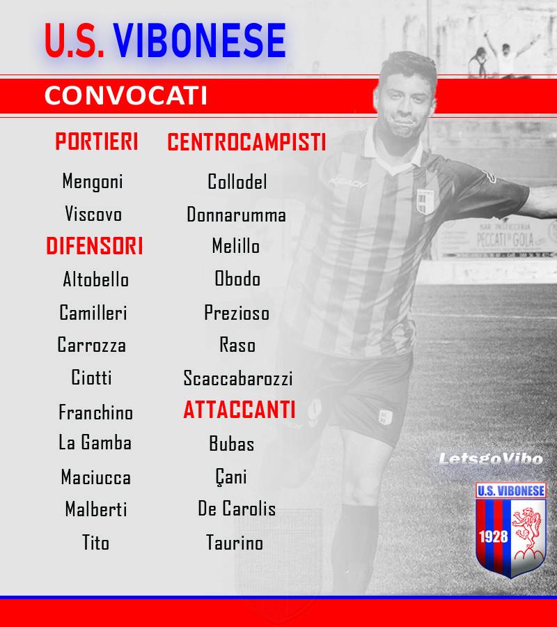 Monopoli - Vibonese: Convocati immagine 10598 US Vibonese Calcio