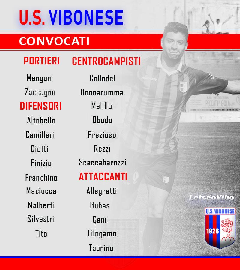 Vibonese - Rieti: Convocati immagine 11623 US Vibonese Calcio