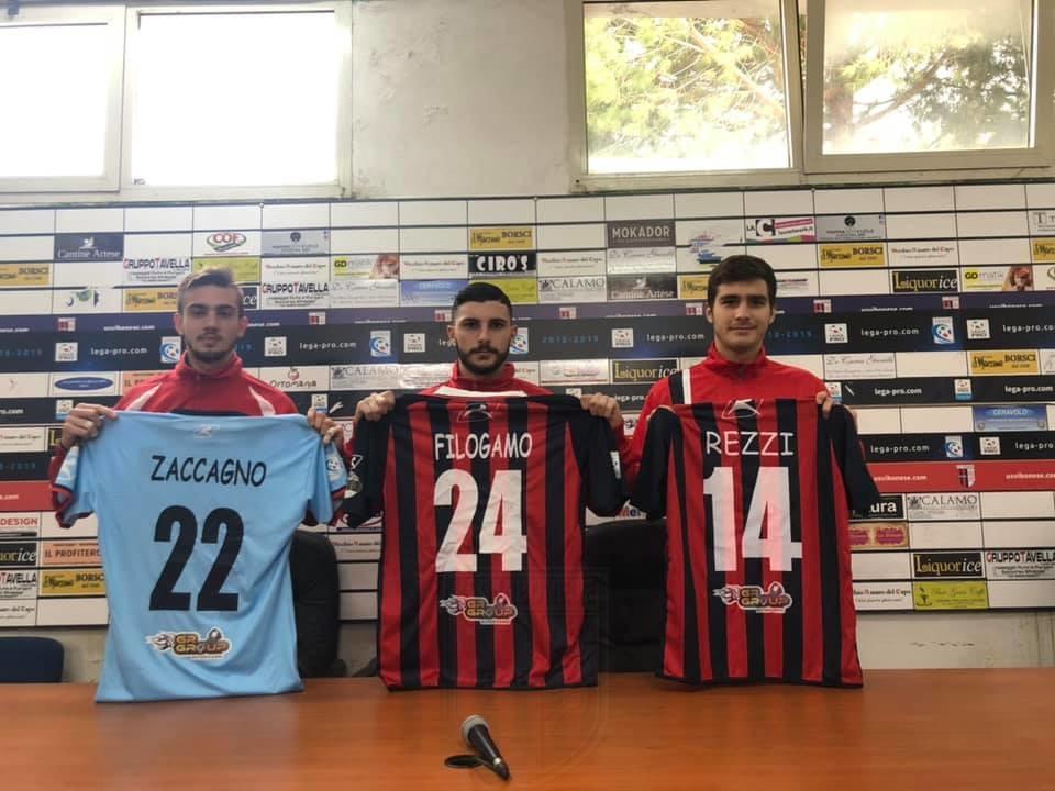 VERSO VIBONESE - CATANIA   Presentati ufficialmente Zaccagno, Rezzi e Filogamo immagine 11554 US Vibonese Calcio