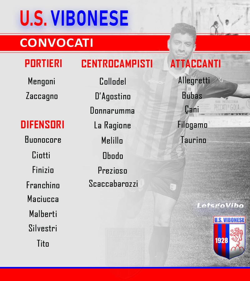 Vibonese - Rende: Convocati immagine 11804 US Vibonese Calcio