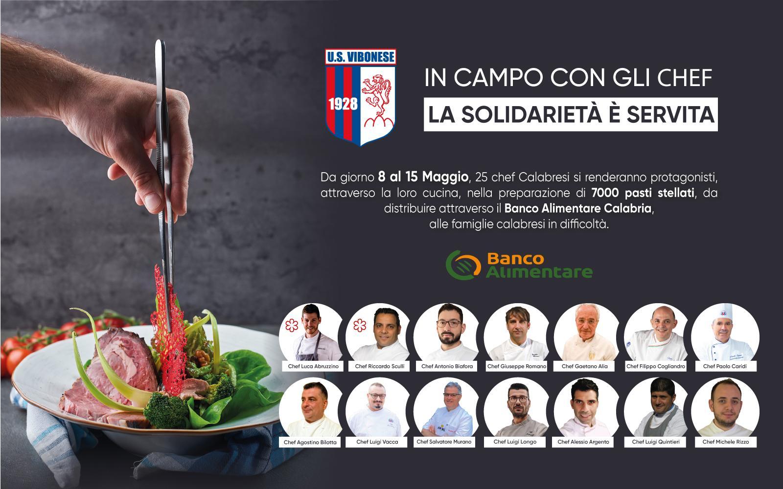 LA SOLIDARIETÀ É SERVITA | La nuova iniziativa solidale rossoblu insieme agli chef stellati calabresi immagine 14758 US Vibonese Calcio